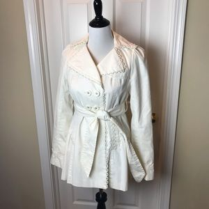 Anthropologie Elevenses Jacket, Ivory, Sz 4